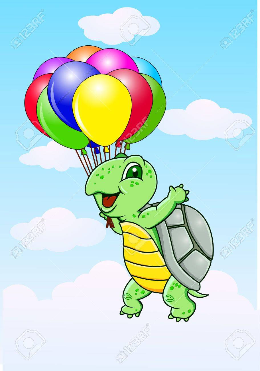 turtle with balloon stock photo picture and royalty free image