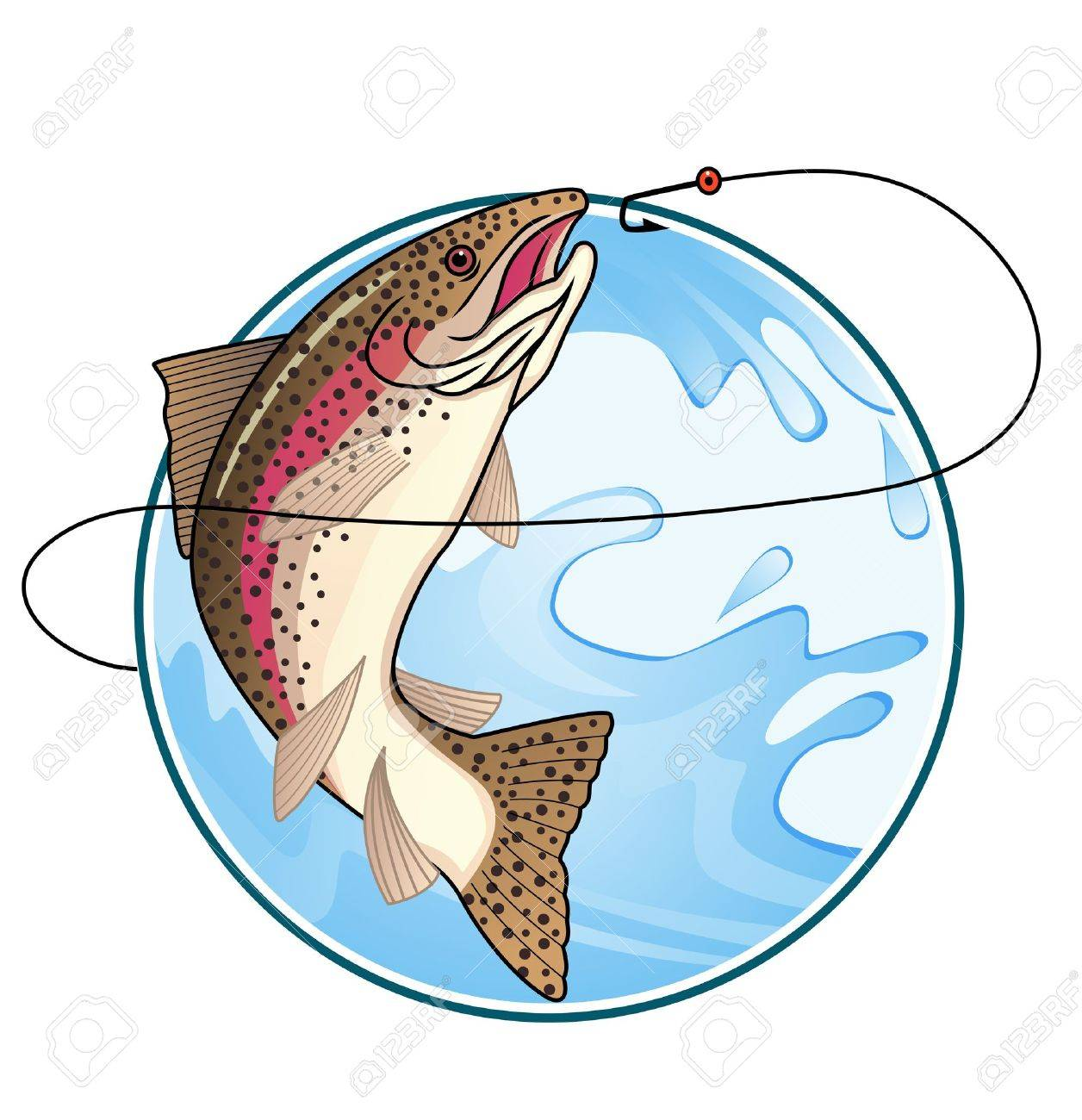 Trout fishing Stock Vector - 12152607