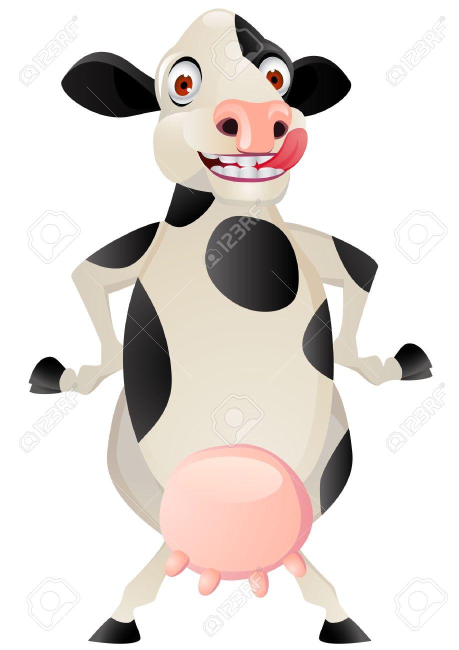 Funny cow cartoon Stock Vector - 12152598