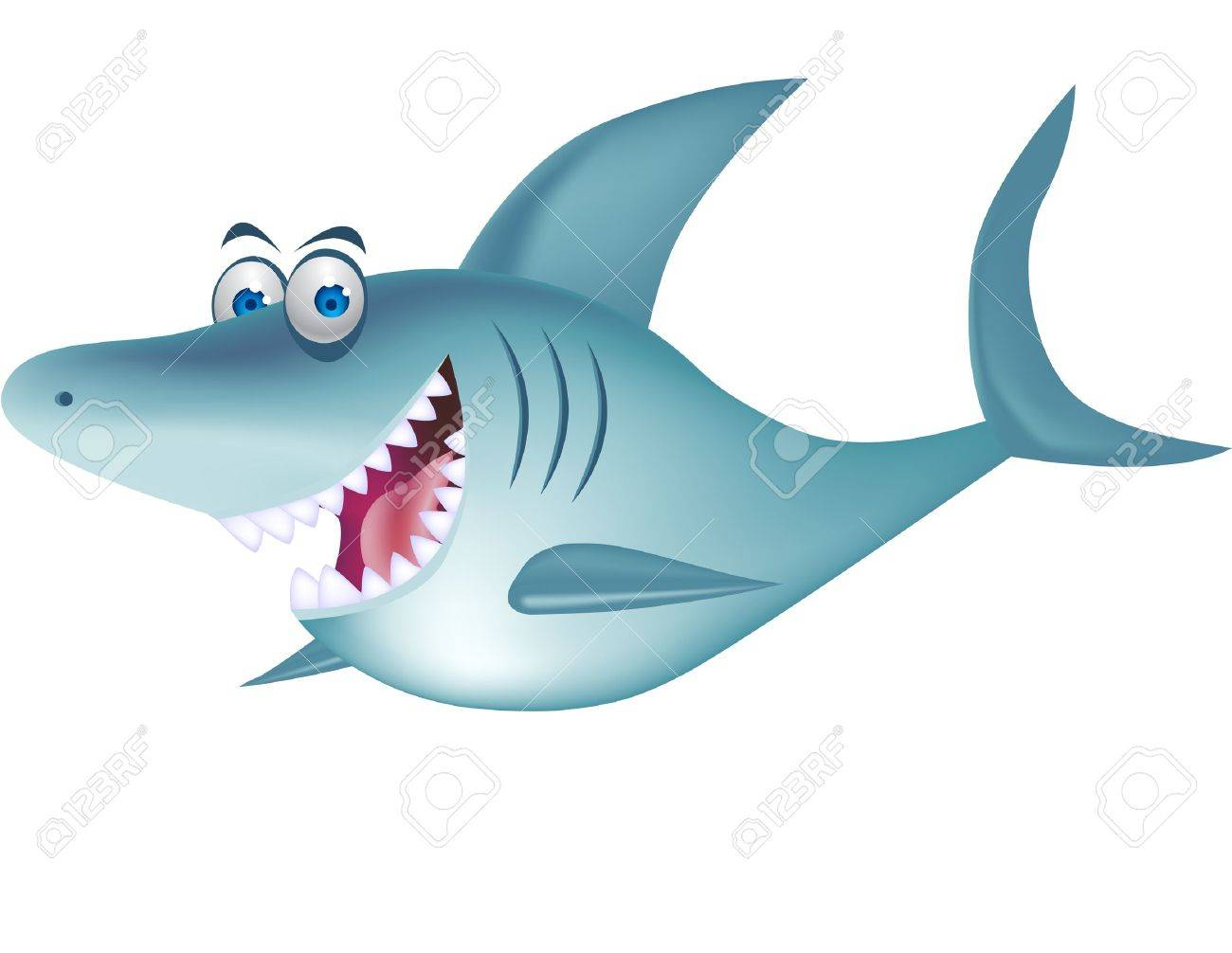 Shark cartoon Stock Vector - 12152644