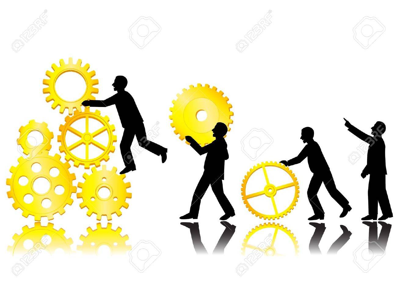 Team work concept Stock Vector - 12152618
