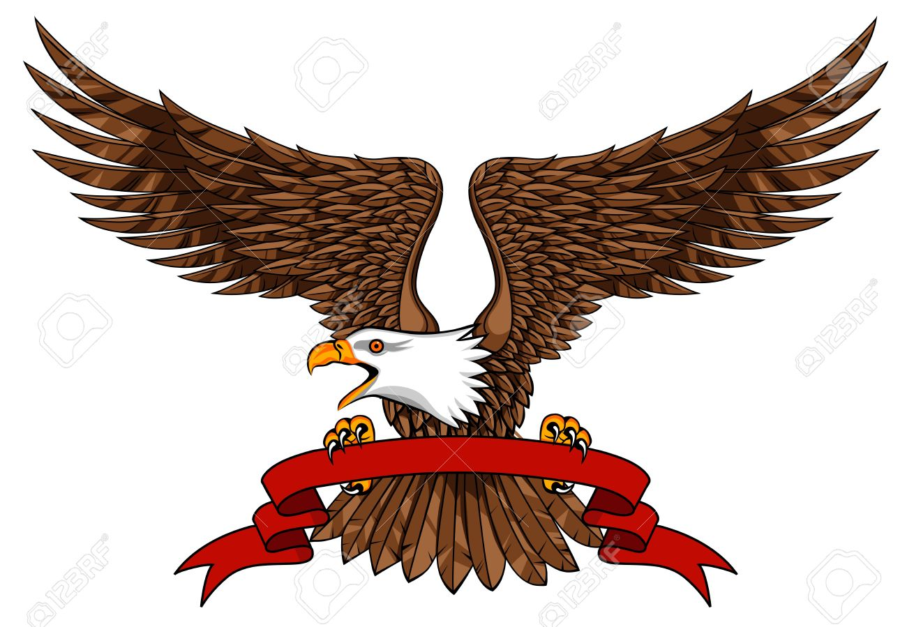 Eagle with emblem Stock Vector - 12152723