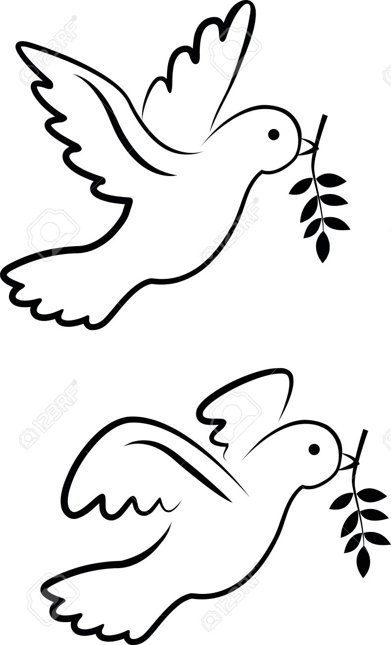 vector dove symbol royalty free cliparts vectors and stock rh 123rf com Holy Spirit Dove Symbol Dove Representation