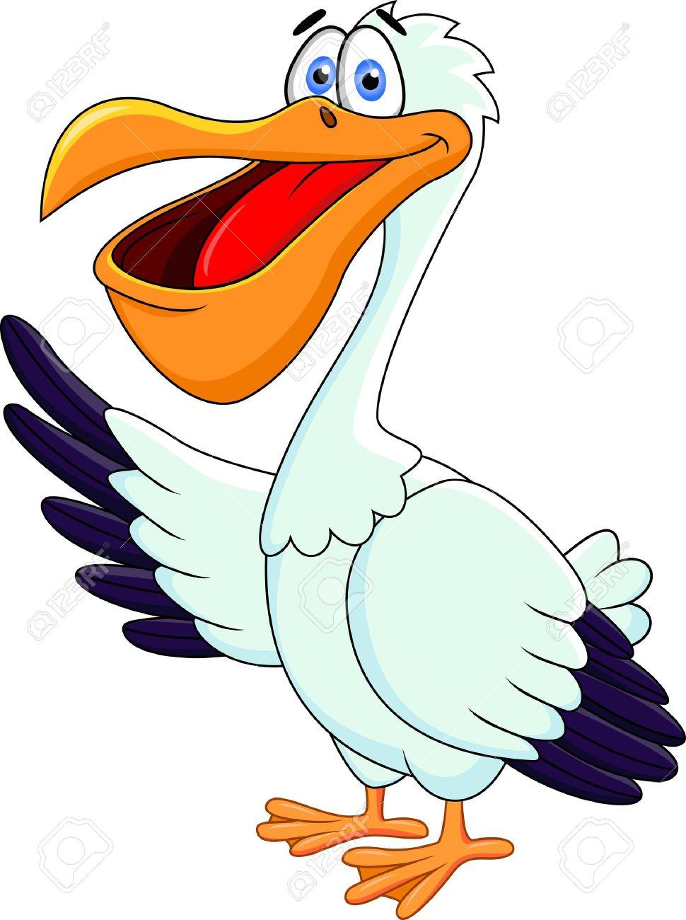 Pelican Cartoon Stock Vector - 13281567