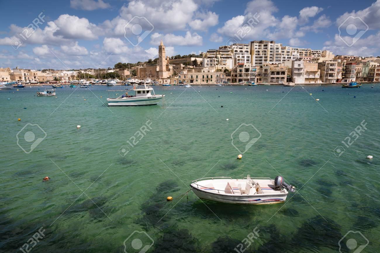Località Di Soggiorno Di Marsaskala Sull\'isola Di Malta Nel Mar ...