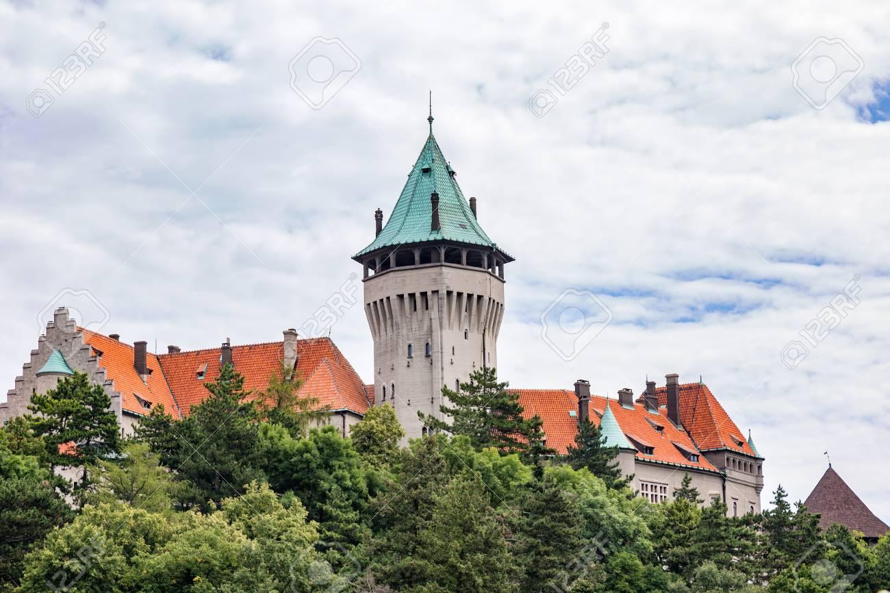 Smolenice Castle At The Foot Of The Little Carpathians Slovakia Stock Photo 61557929