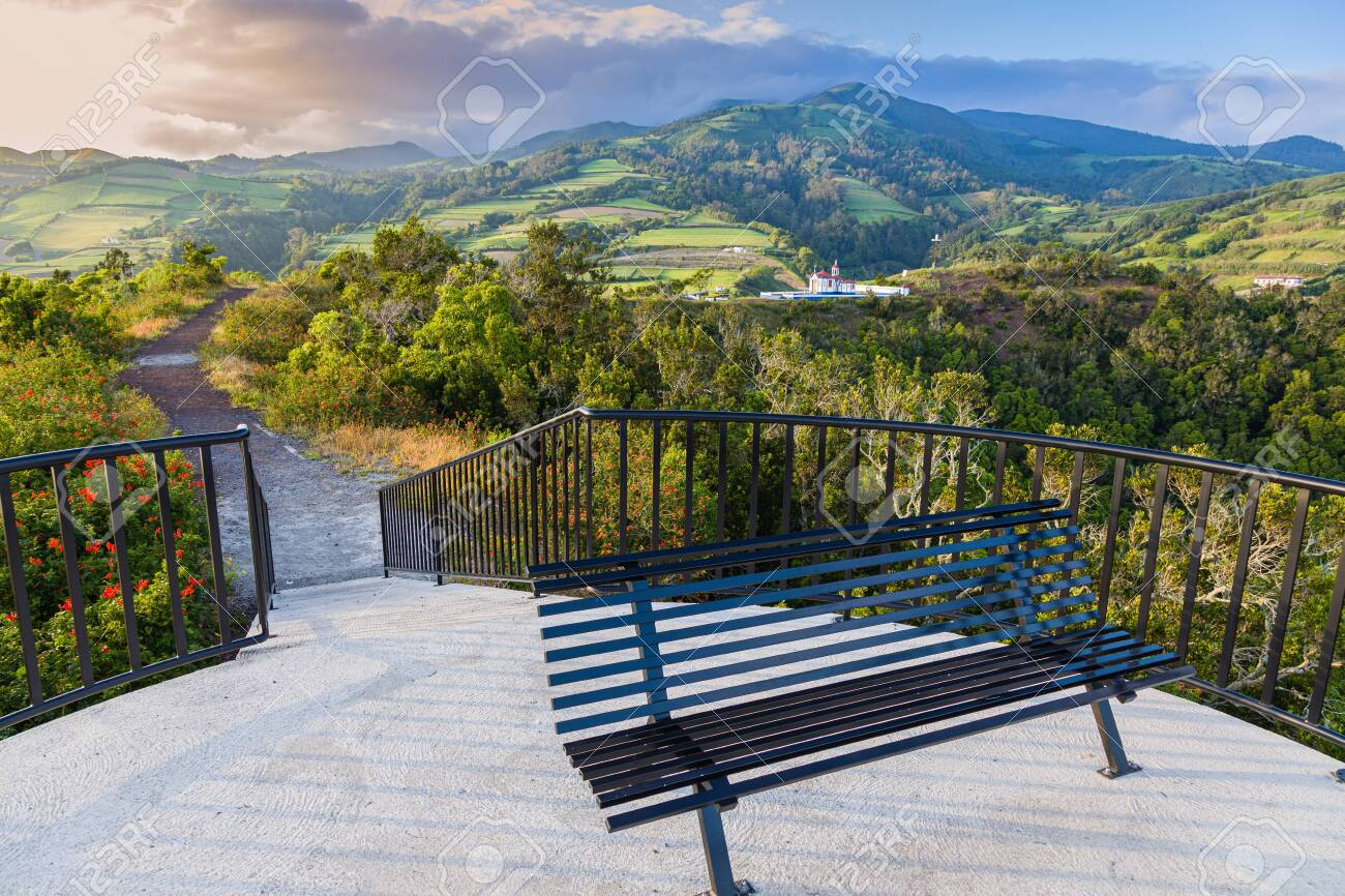 Observation Deck Of Monte Santo In Agua De Pau Sao Miguel Azores