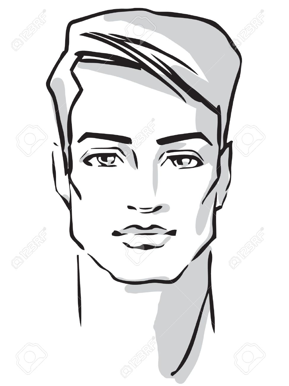 Man face  Hand-drawn fashion model Stock Vector - 15908258
