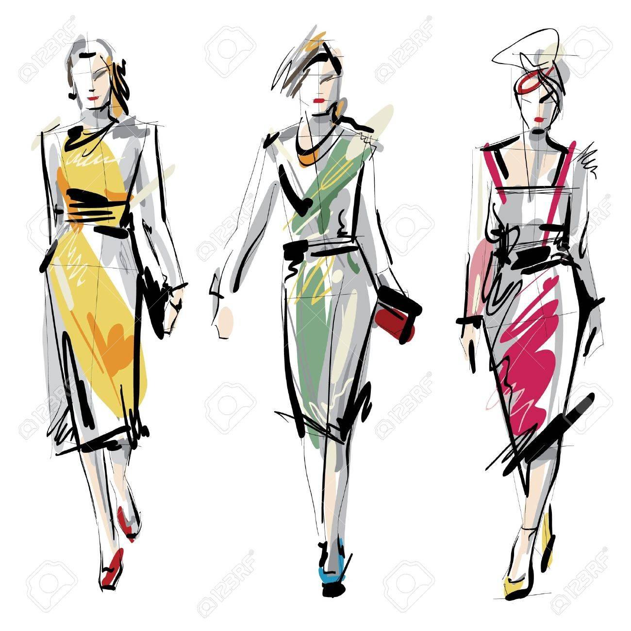 Fashion models Sketch - 18630893