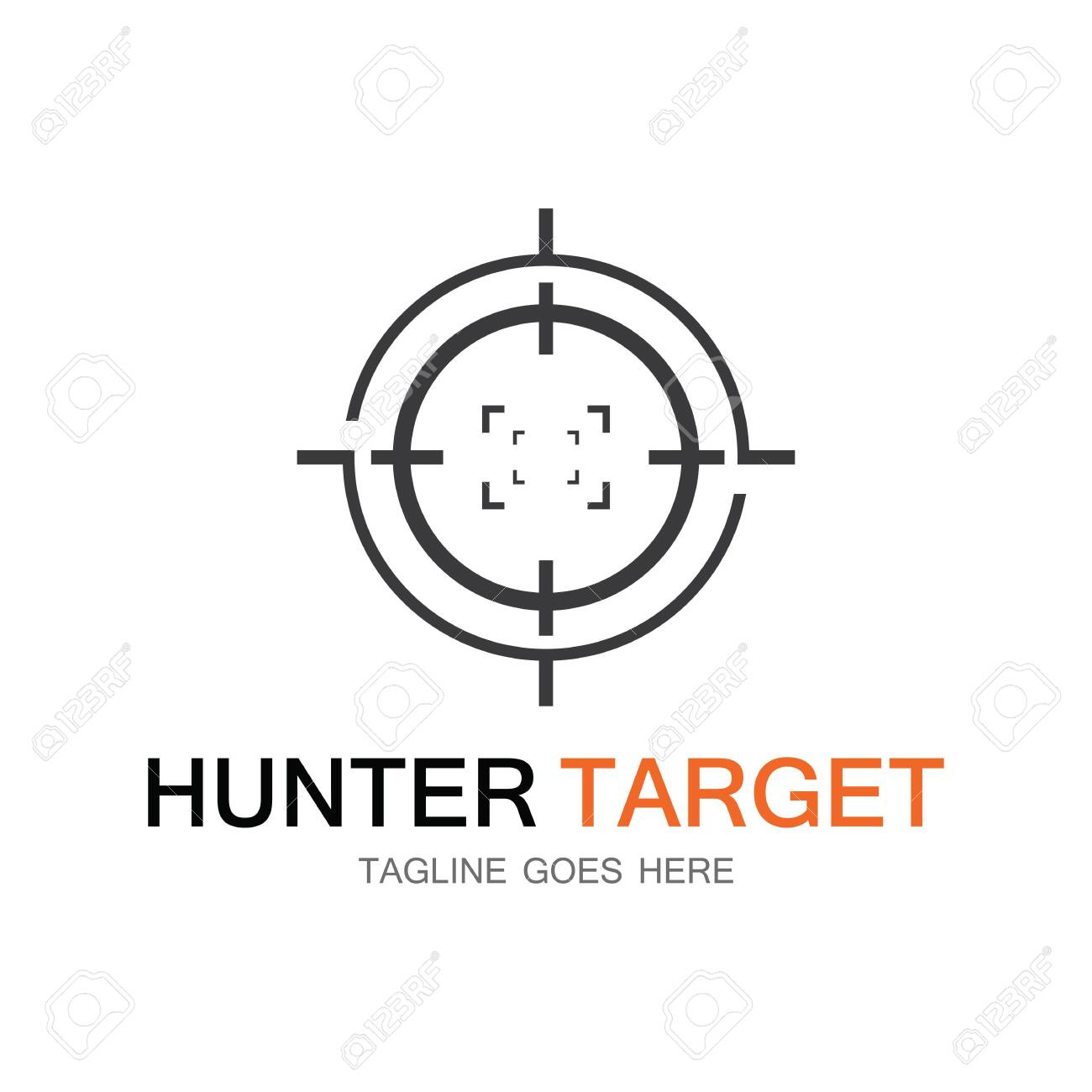 Target hunter icon vector illustration template design - 131660500