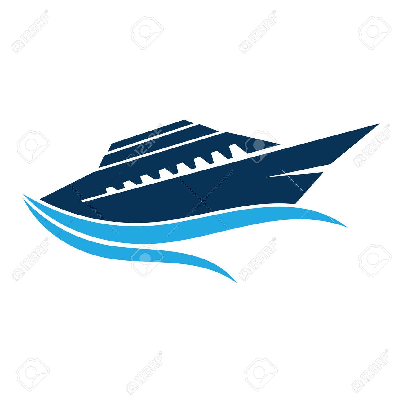 Cruise Ship Ocean Logo Template vector icon design - 138270048