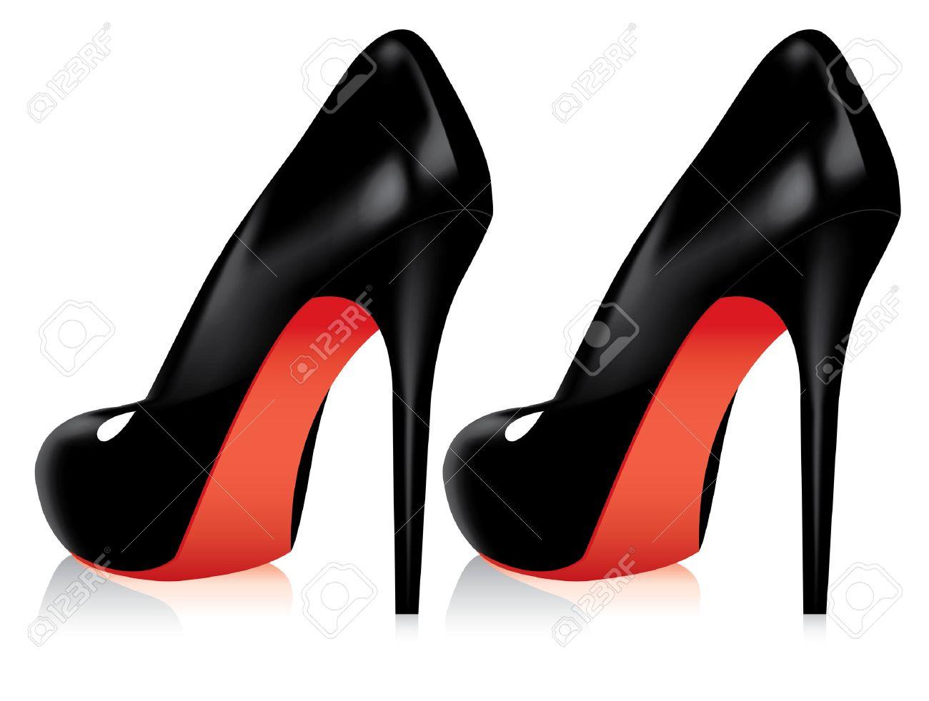 vector pair of high heel shoes Stock Vector - 8778607