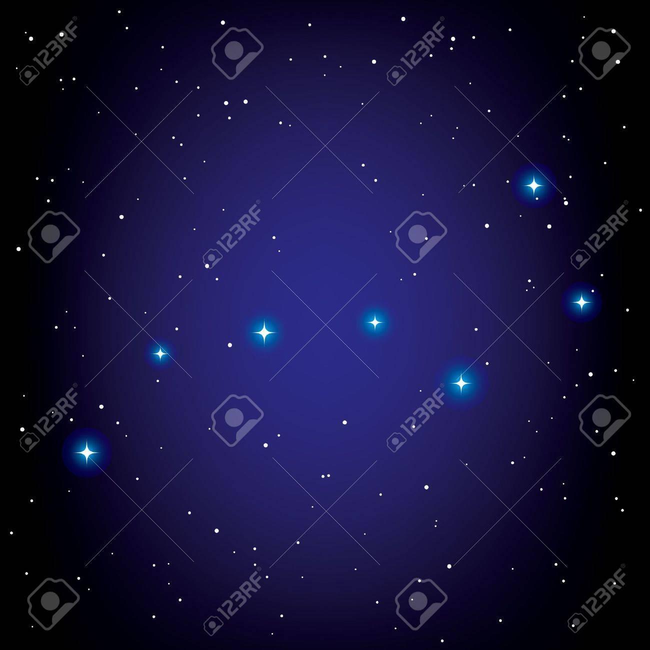 constellation of Big Dipper. Stock Vector - 11811587