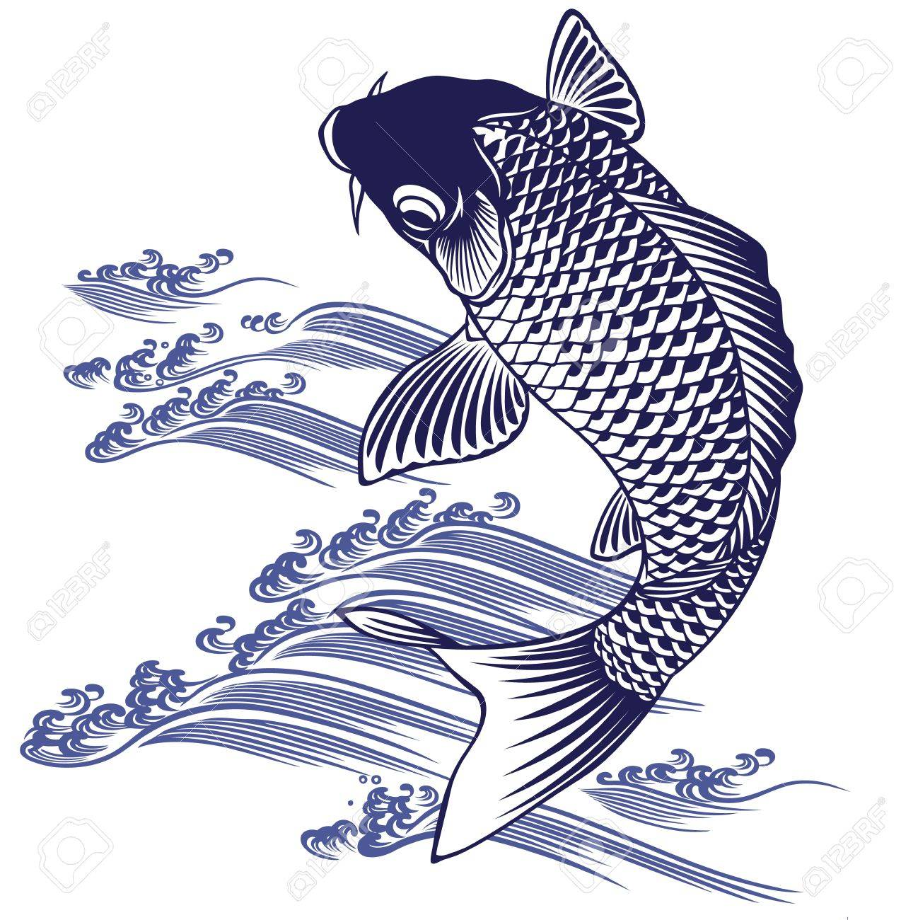 Japanese Carp Royalty Free Cliparts, Vectors, And Stock ...