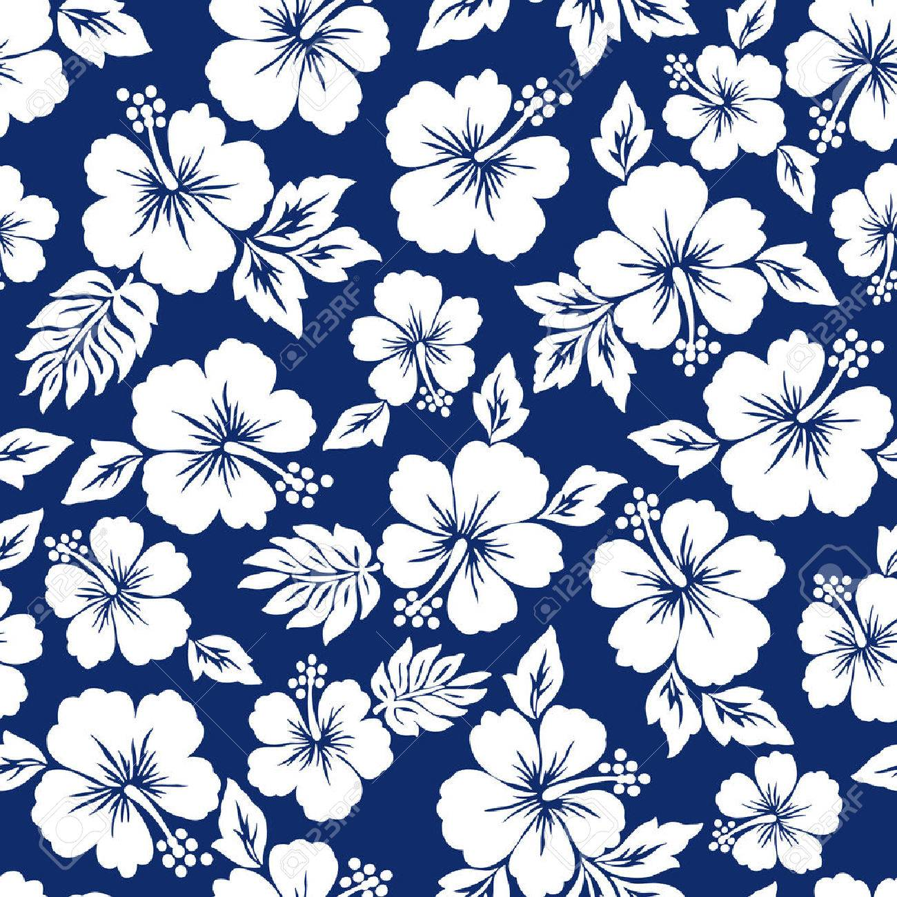 Hibiscus Flower Pattern Royalty Free Cliparts Vectors And Stock
