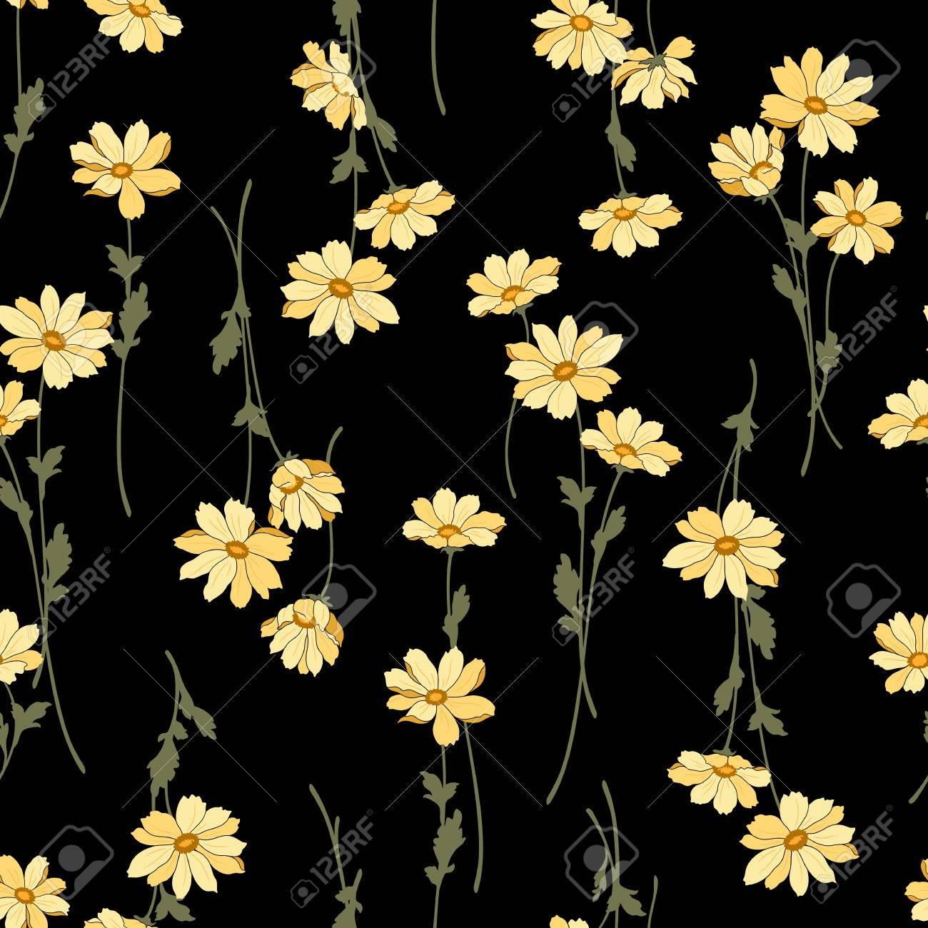 Flower illustration pattern - 51513048