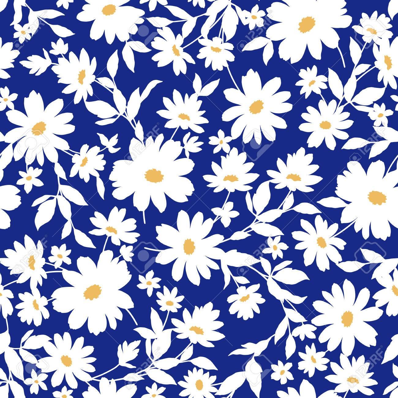 Flower illustration pattern - 54947465