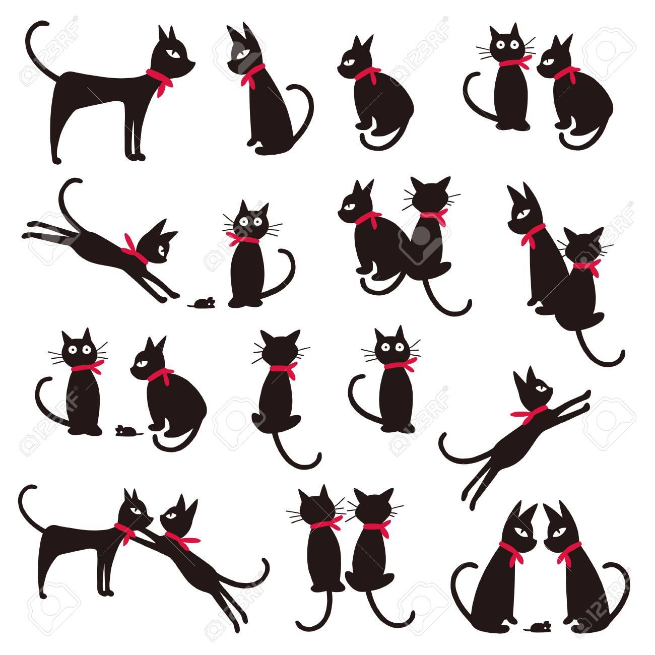 かわいい猫のイラストのイラスト素材 ベクタ Image