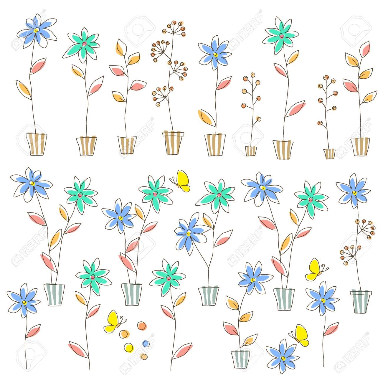 簡単な園芸植物イラストのイラスト素材ベクタ Image 83178399