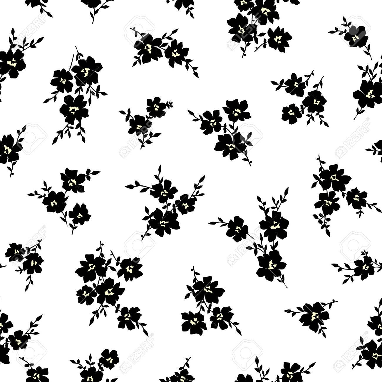 Seamless vector pattern of a beautiful flower, - 127806230