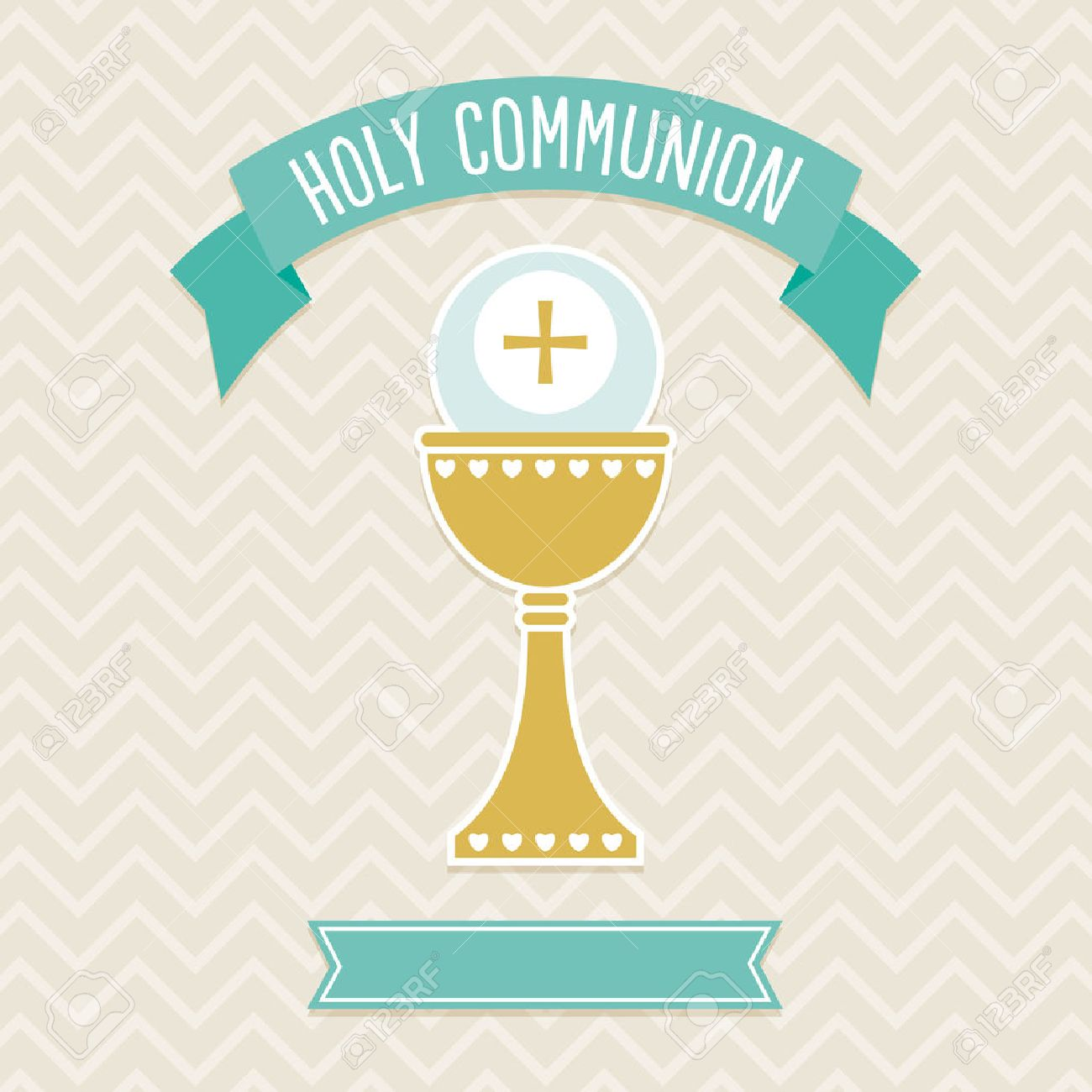 First Holy Communion Card Template In Cream And Aqua With Copy For First Communion Banner Templates