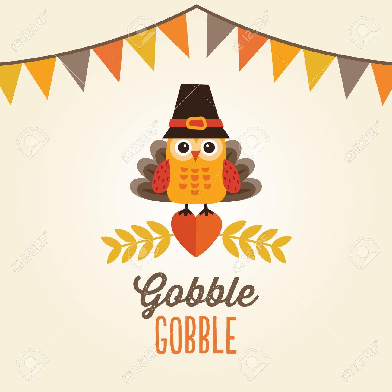 Cute Thanksgiving Owl