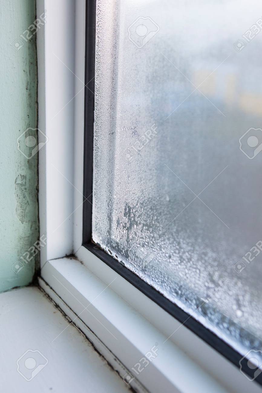 House Window With Damp And Condensation Stock Photo   73759602