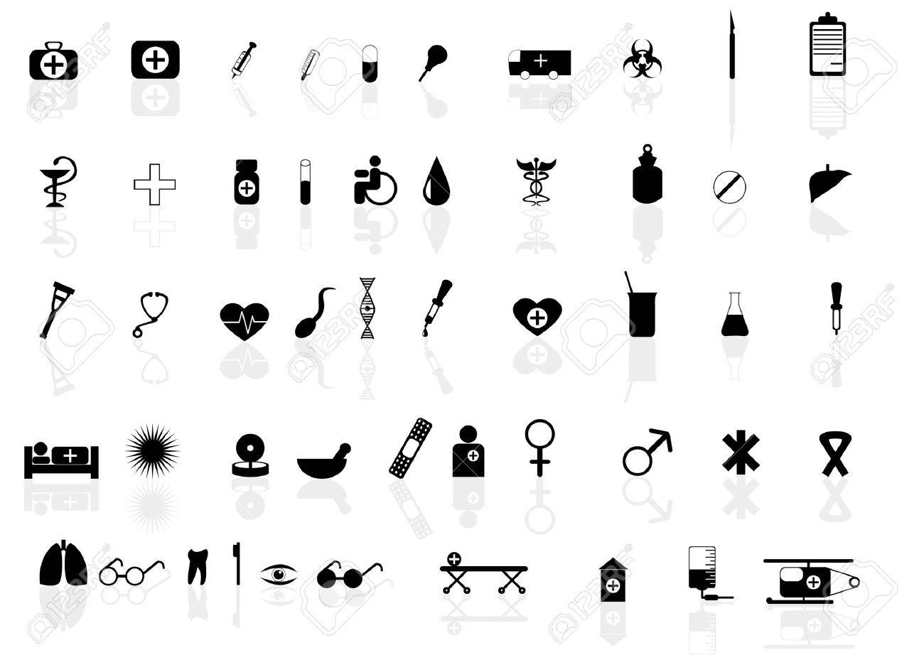 Vector set of icons for health topic Stock Vector - 11830052