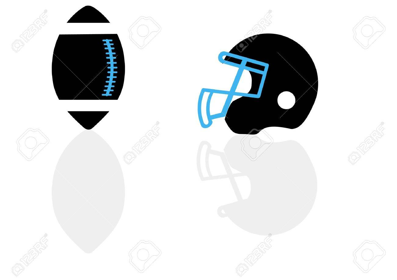 A silhouette of a ball and helmet for football in the vector Stock Vector - 11830062