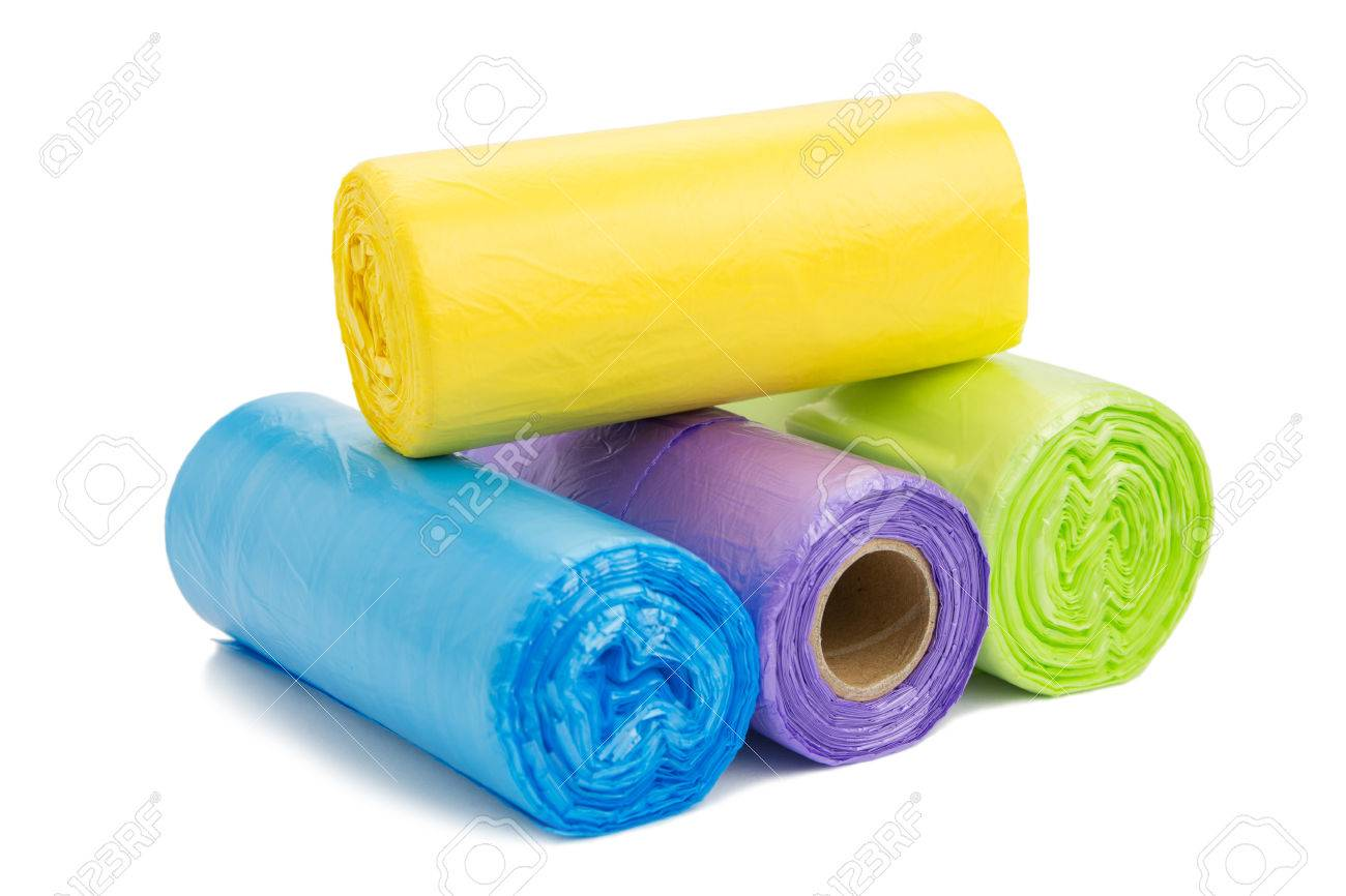 Colored garbage bags roll - 44975156