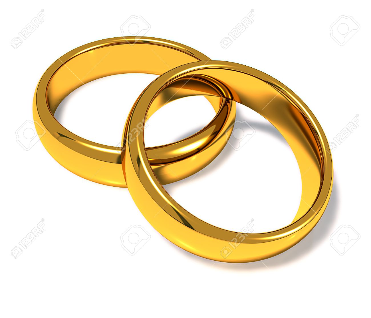 Wedding Rings On A White Background Stock Photo Picture And Royalty