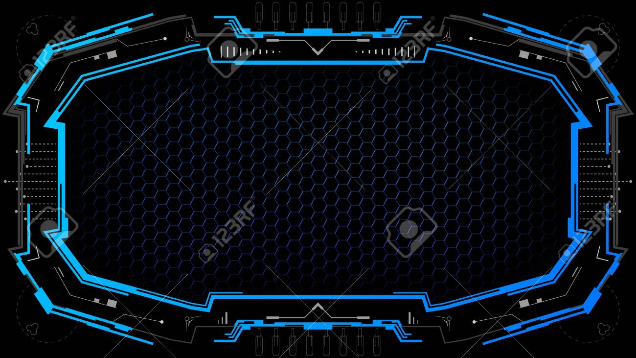 dark technology background with futuristic frame futuristic banner royalty free cliparts vectors and stock illustration image 138085728 dark technology background with futuristic frame futuristic banner