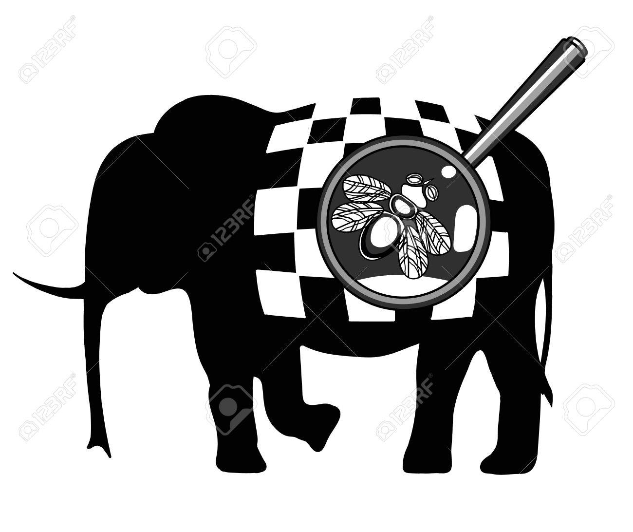 https://previews.123rf.com/images/dalinas/dalinas1602/dalinas160200031/53405732-black-and-white-illustration-with-the-image-of-a-fly-on-an-elephant-with-a-checkerboard-pattern-.jpg