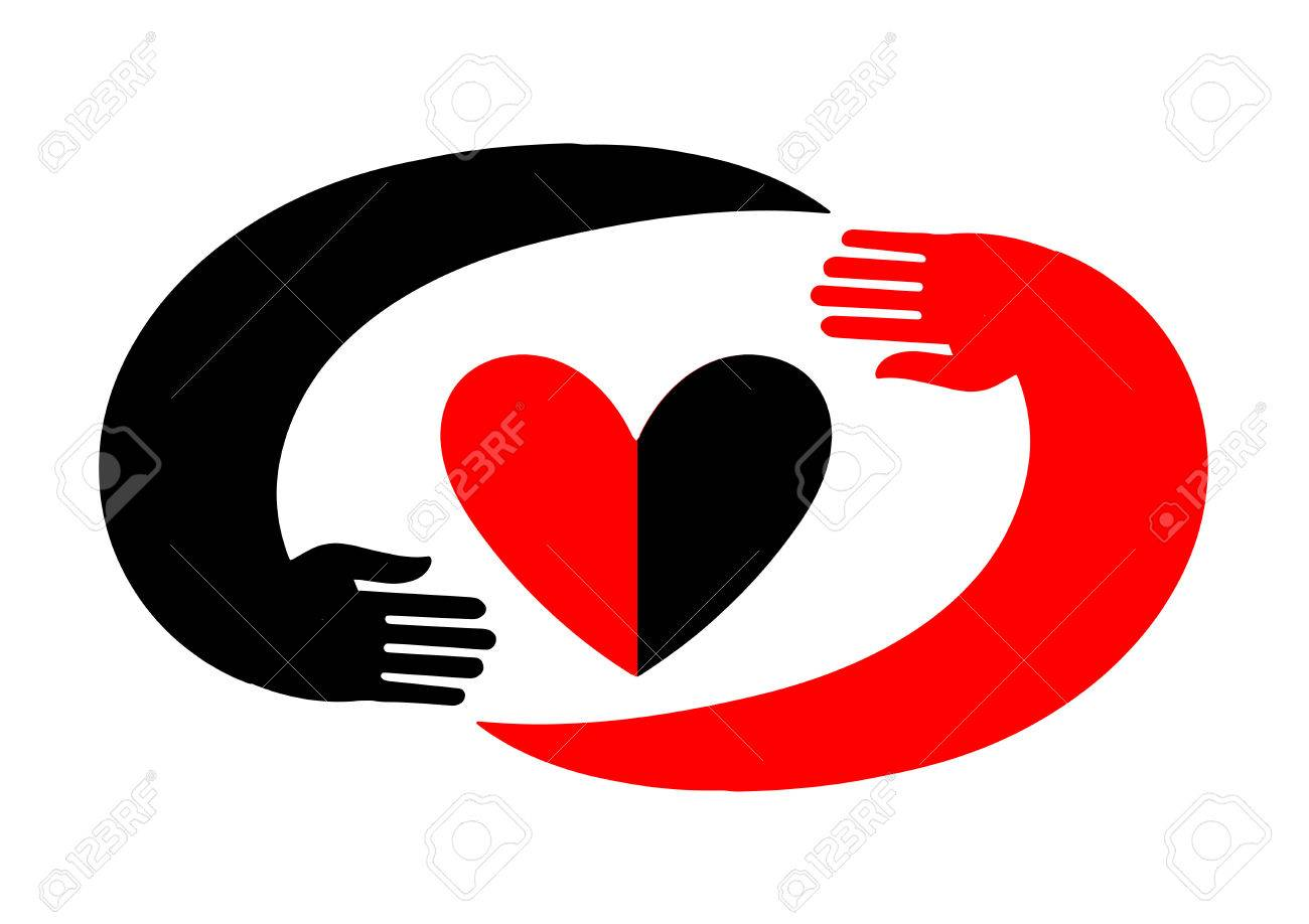 Original icon with black and red design a symbol of love in original icon with black and red design a symbol of love in the style of biocorpaavc Images
