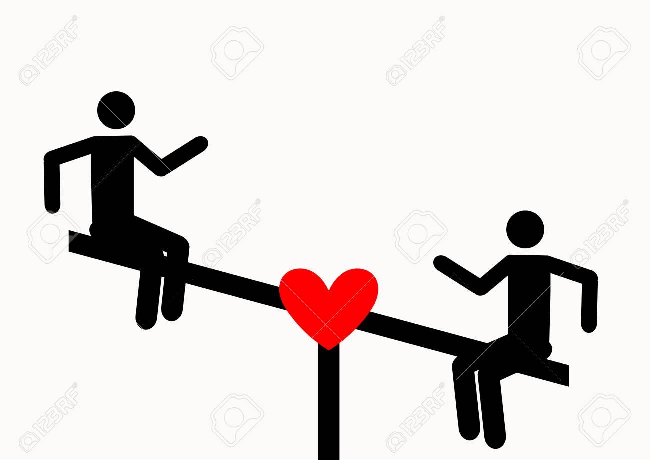 L Amour Sur Une Balançoire Symbole De Terrain De Jeu à Télécharger Icônes Vectorielles Pour La Vidéo Les Applications Mobiles Les Sites Web Et Les