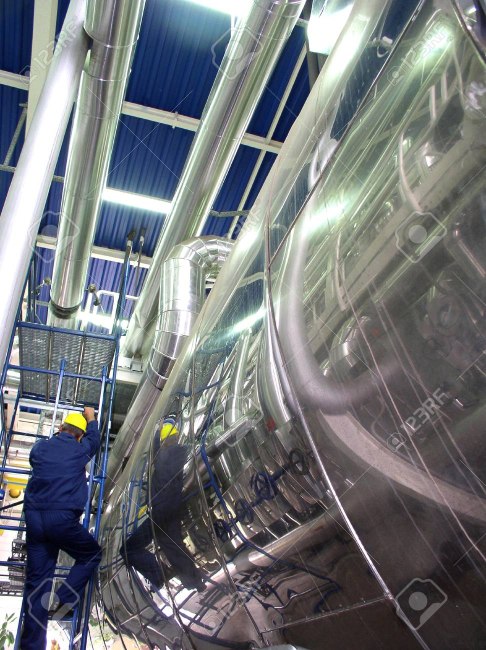 pipelines and engineer, factory Stock Photo - 2412722