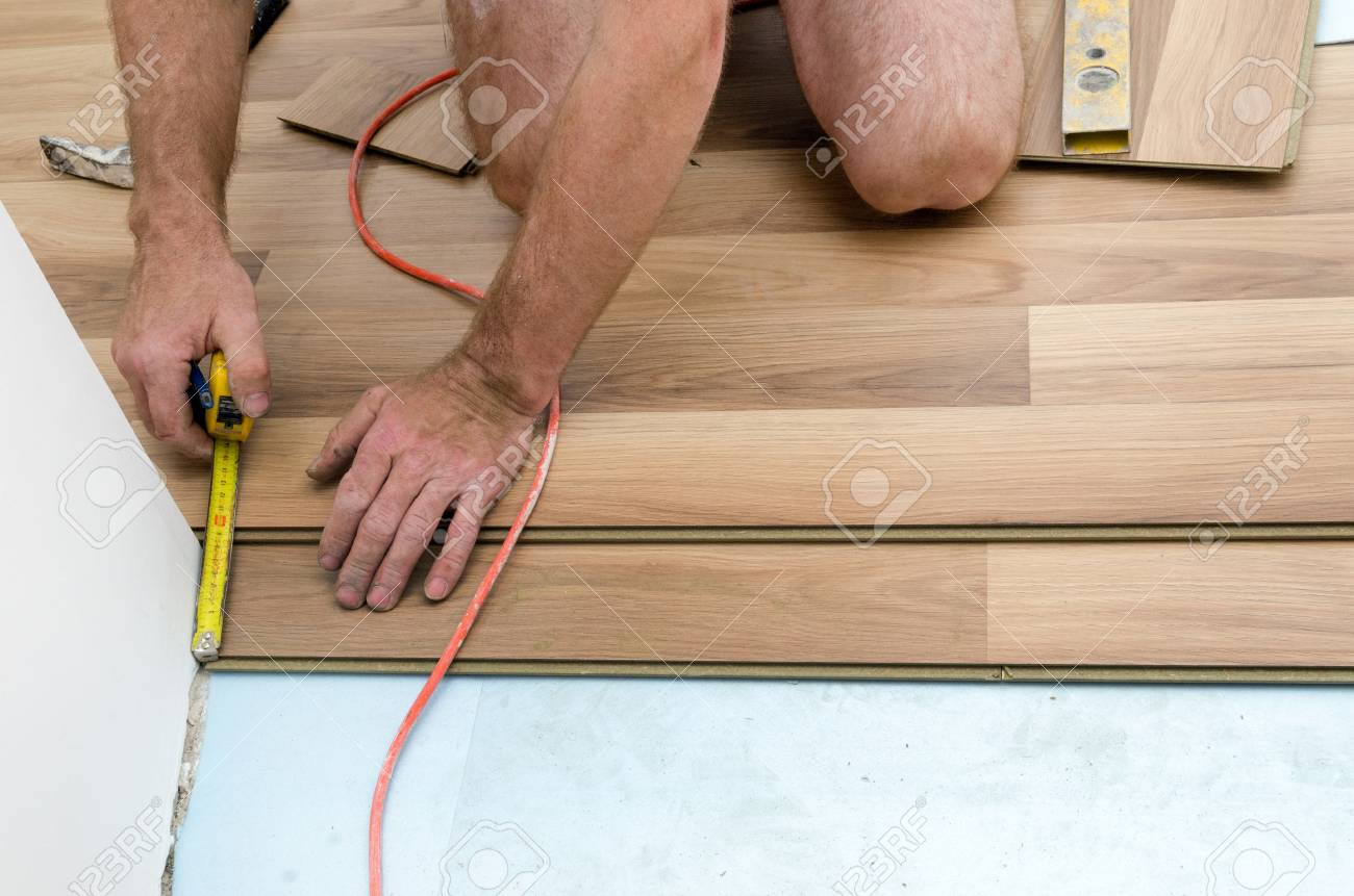 Home improvement, floor installation Stock Photo - 20443297