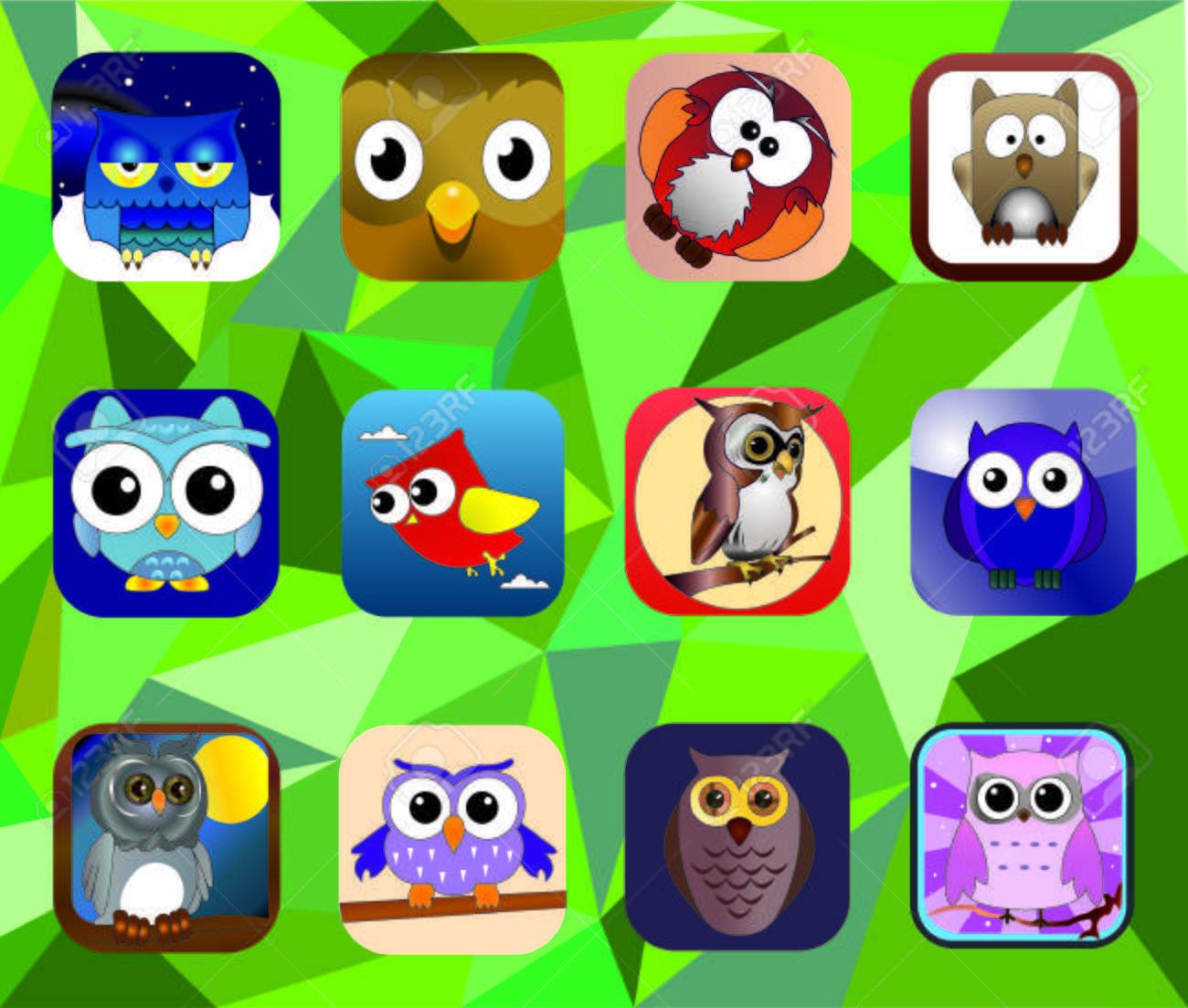 Owl set - 39754553