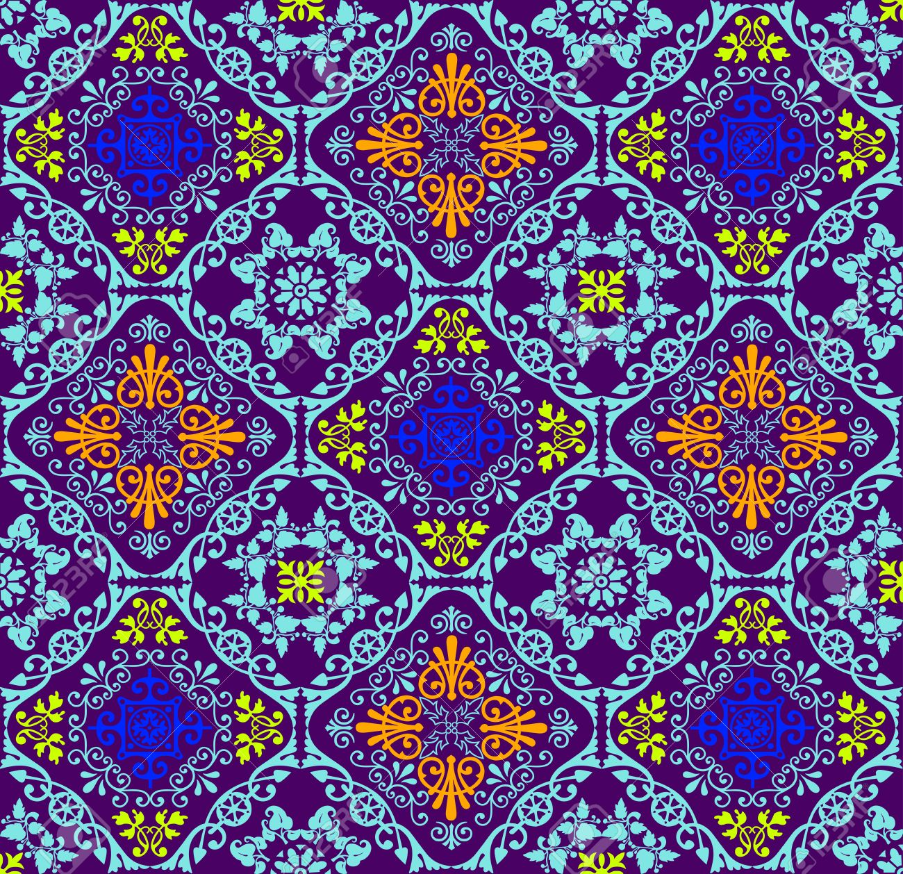 Fluorescent seamless tapestry - 40918547