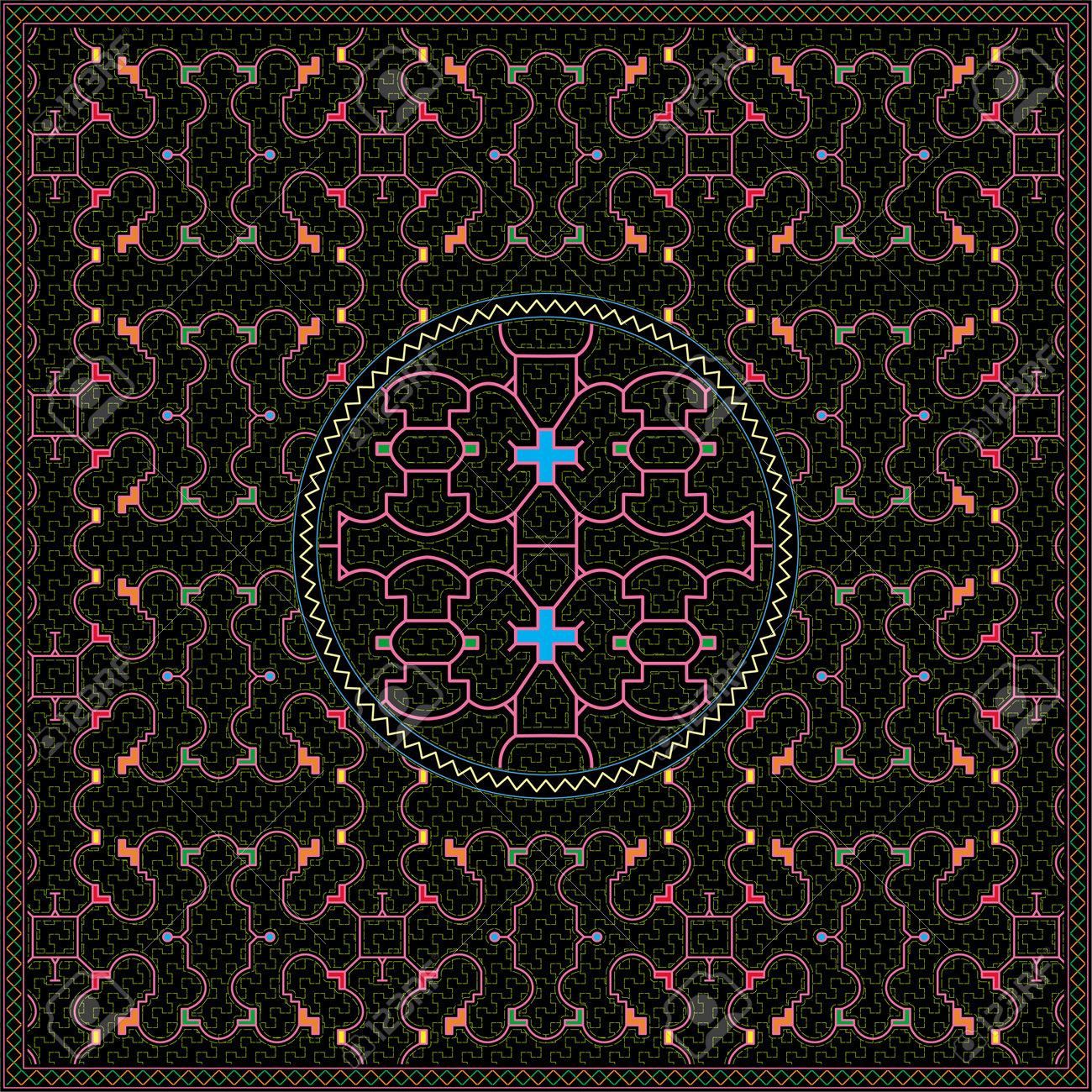 7 of 12 Shipibo Conibo artwork patterns HD set - 160579510