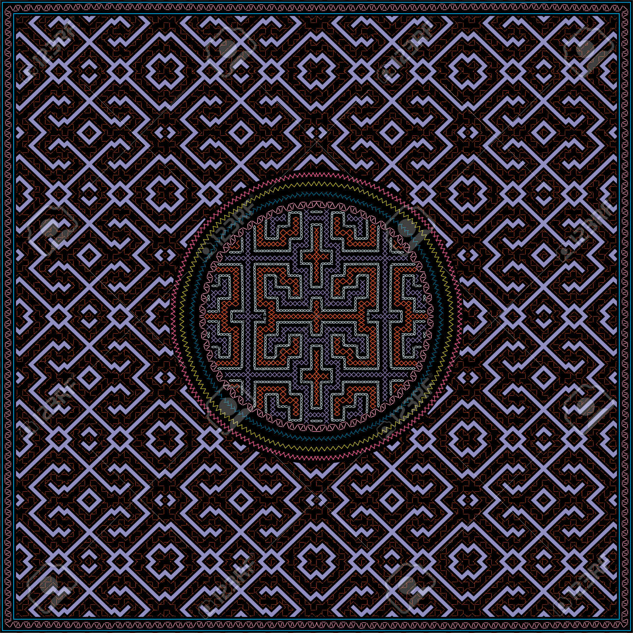 11 of 12 Shipibo Conibo artwork patterns HD set - 160578804
