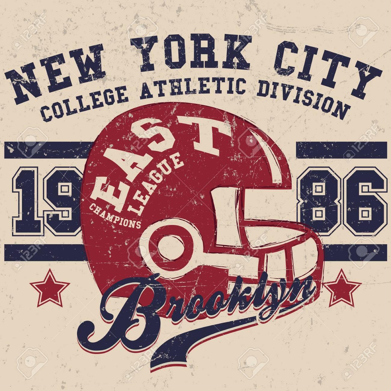 Sport Wear Vintage New York City T Shirt Design Typography
