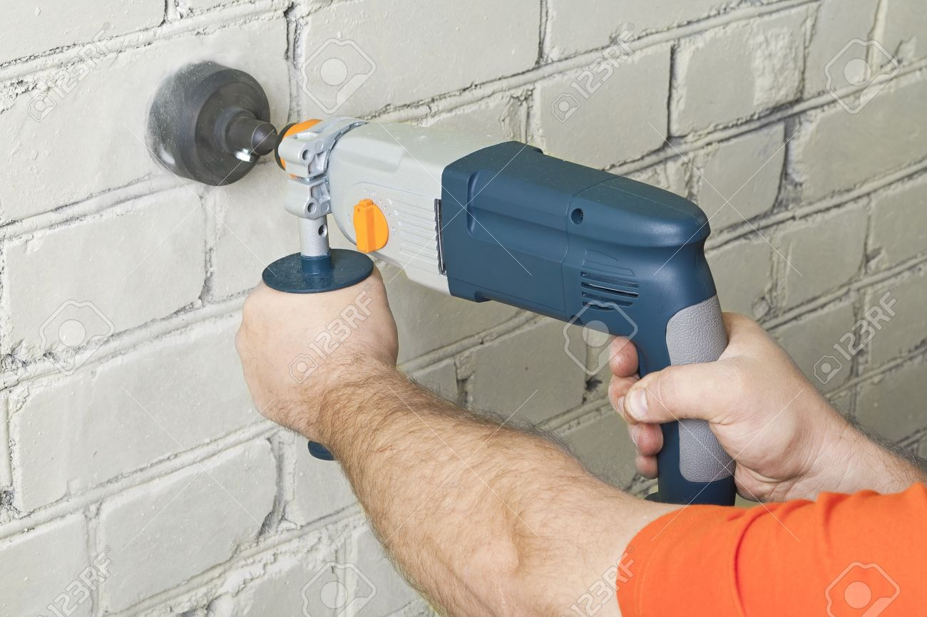 How to drill a wall