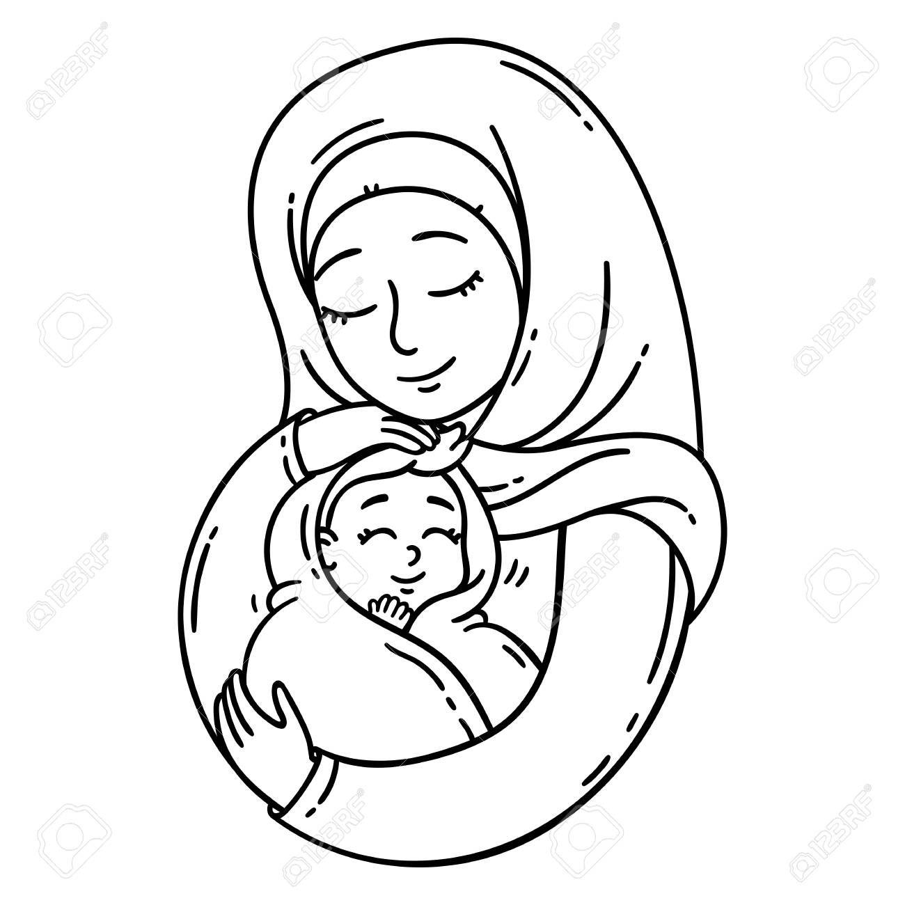 Muslim Mother Holding Baby The Best Mom A Pretty Mother Holds Stock Photo Picture And Royalty Free Image Image 118785067