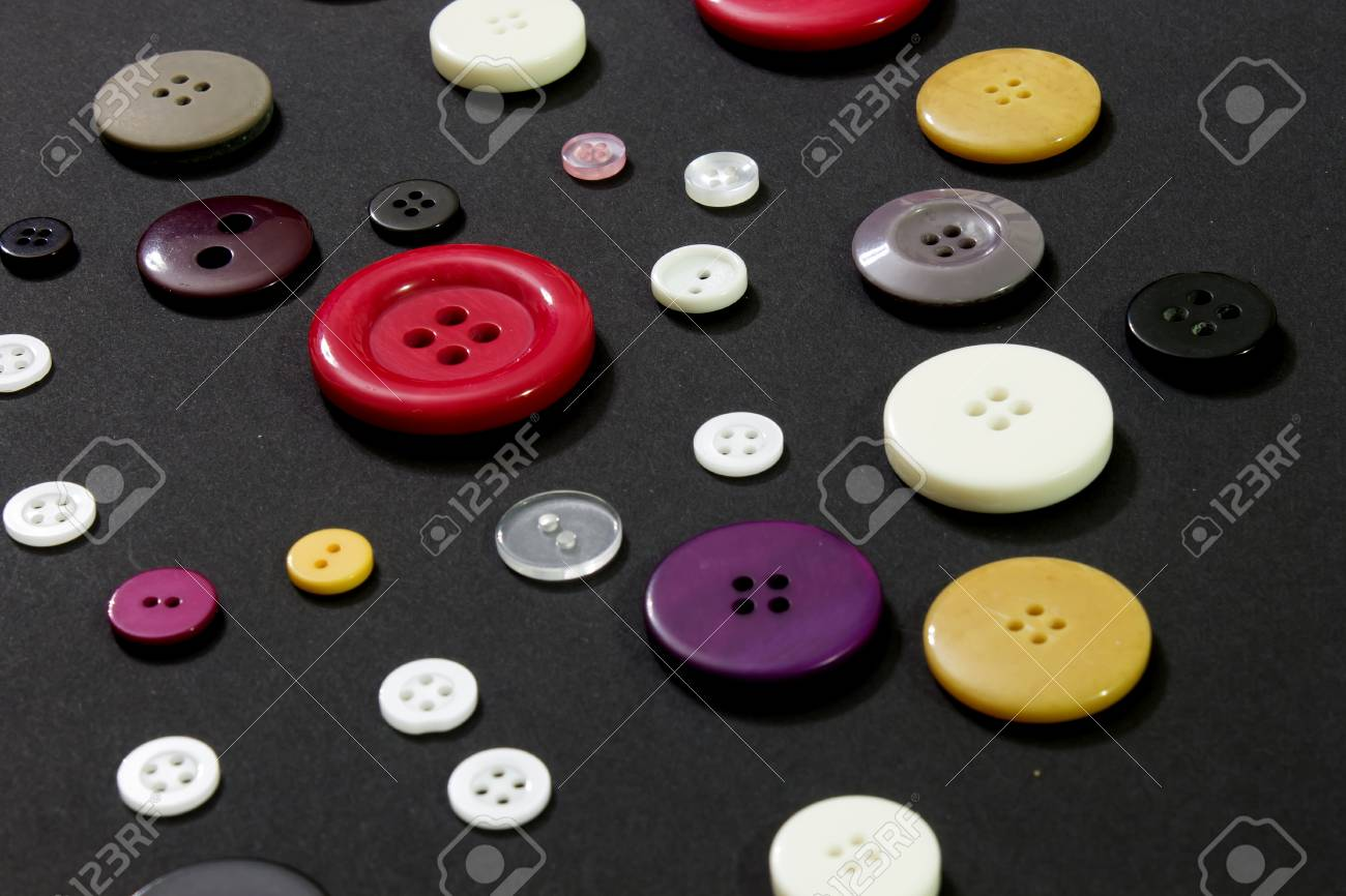 Black Sewing Buttons