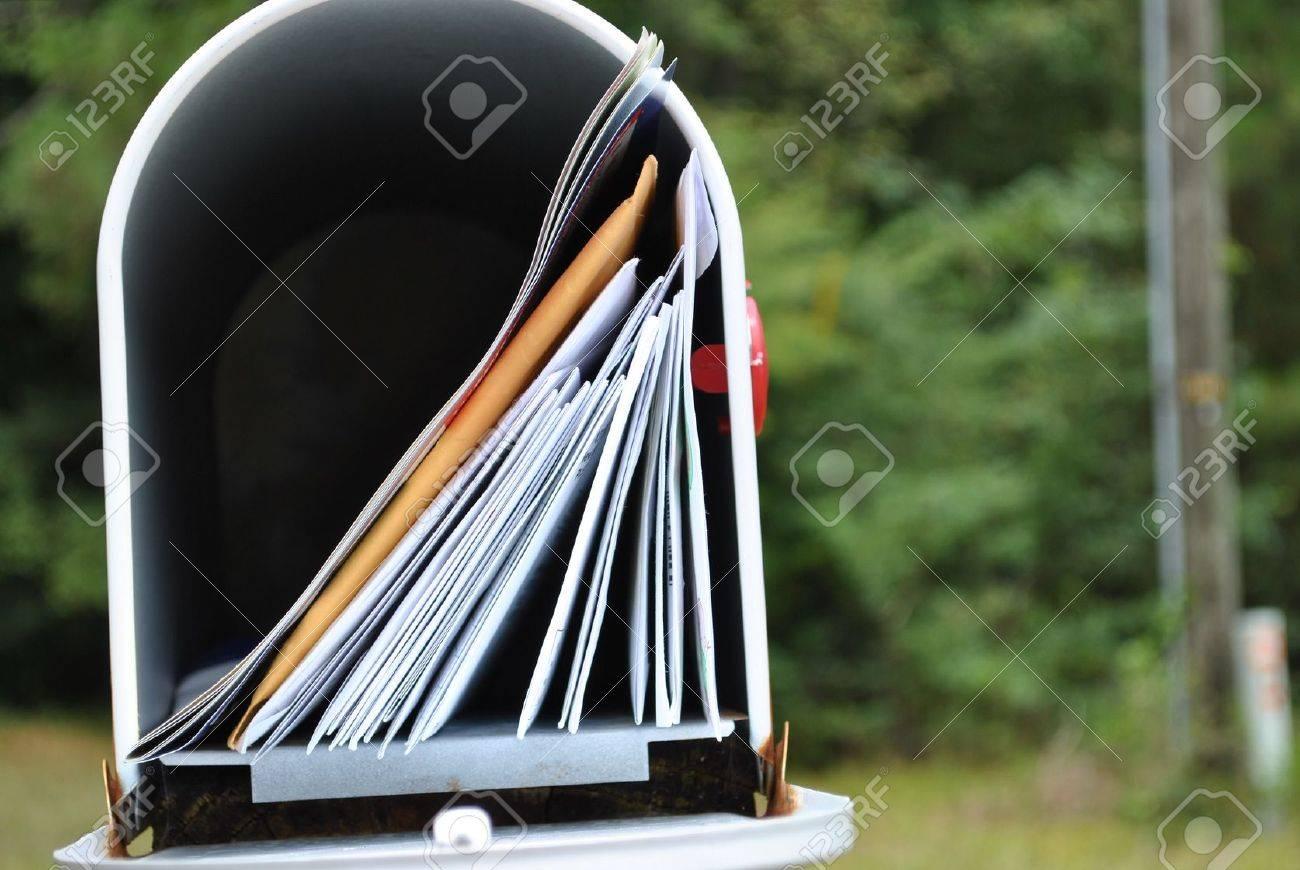 mailbox  full  of  mail Stock Photo - 14593396