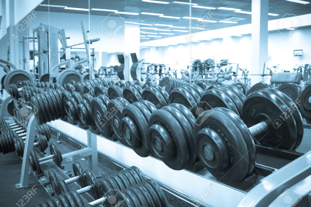 Dumbbells of the big weight for employment by bodybuilging Stock Photo - 4331312