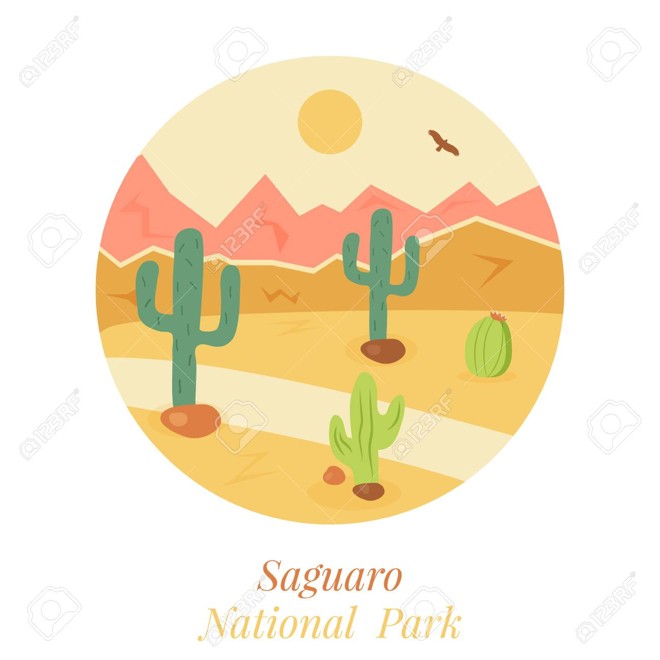 Welcome To Saguaro National Park Poster Stock Photo Picture And