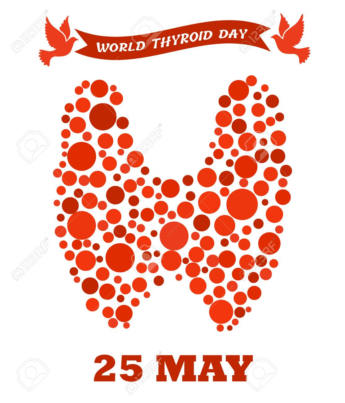 World Thyroid Day Poster Human Thyroid Disease Awareness Thyroid