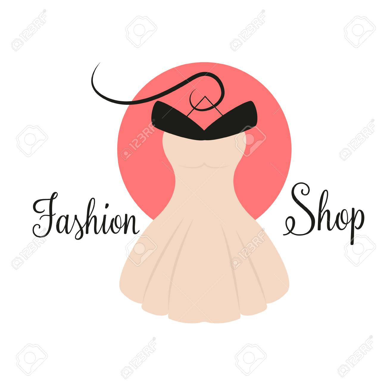 Women Fashion Logo Design Template Dress Emblem Royalty Free Cliparts Vectors And Stock Illustration Image 104998209
